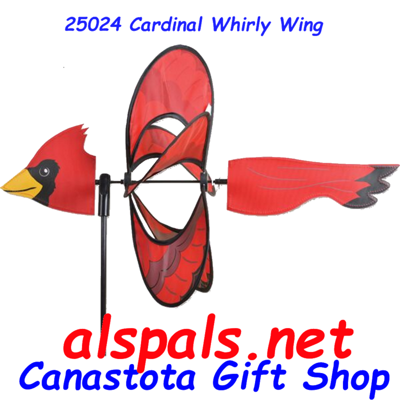 "# 25024 : Cardinal Petite & Whirly Wing Spinner  upc# 630104250249 19"" by 13.5"""