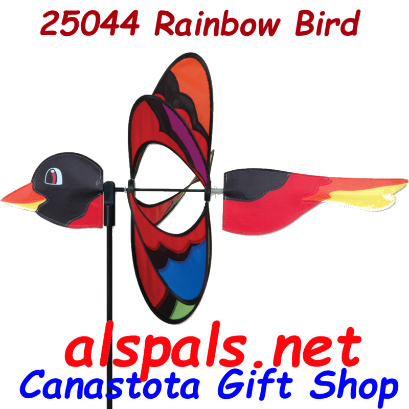 # 25044 : Rainbow Bird  Petite & Whirly Wing Spinner  upc#  630104250447