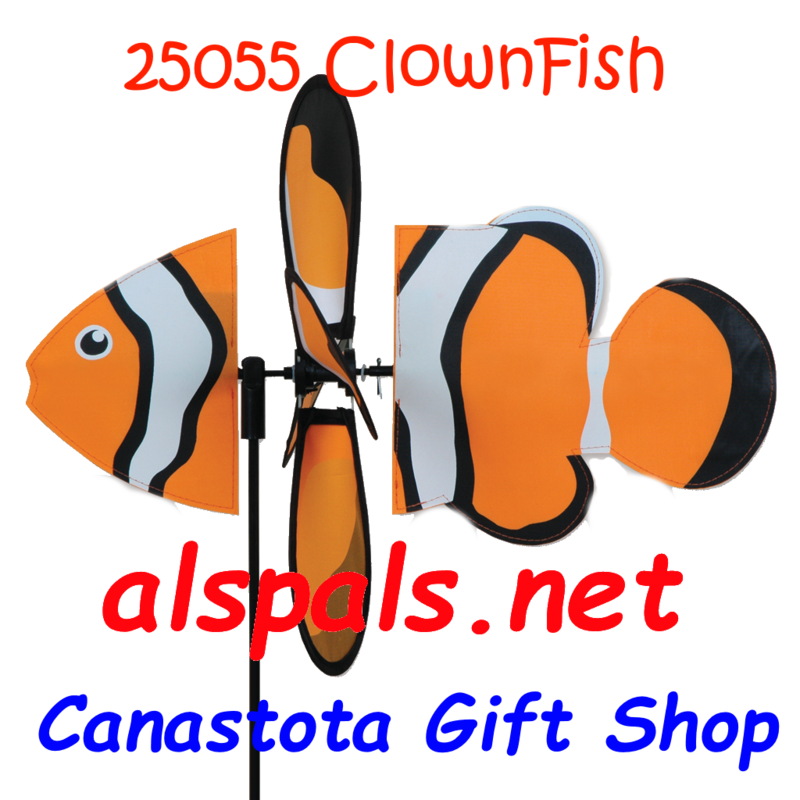 "# 25055 : Clownfish   Petite & Whirly Wing Spinner   upc # 630104250553 16"" by 12.75"" ​"