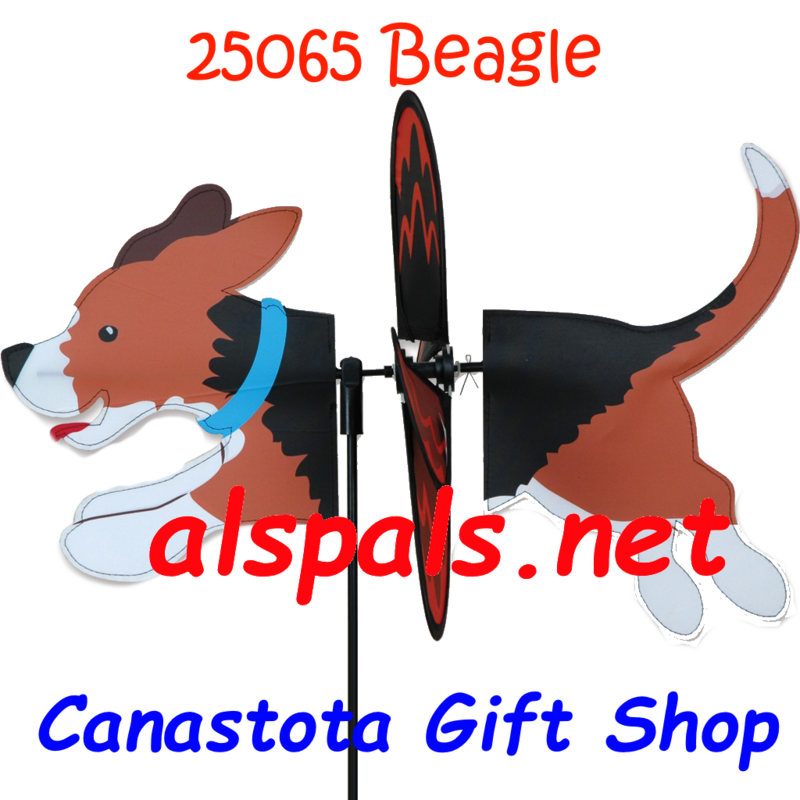 "# 25065 :  Beagle Petite & Whirly Wing Spinner   upc# 63010425065 19"" by 12.75"" ​ ​"