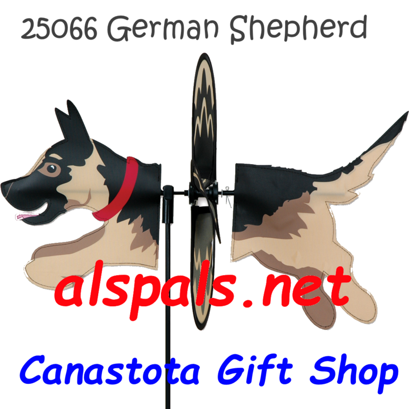 "# 25066 : German Shepherd Petite & Whirly Wing Spinner   upc# 63010425066 19"" by 12.75"" ​ ​"