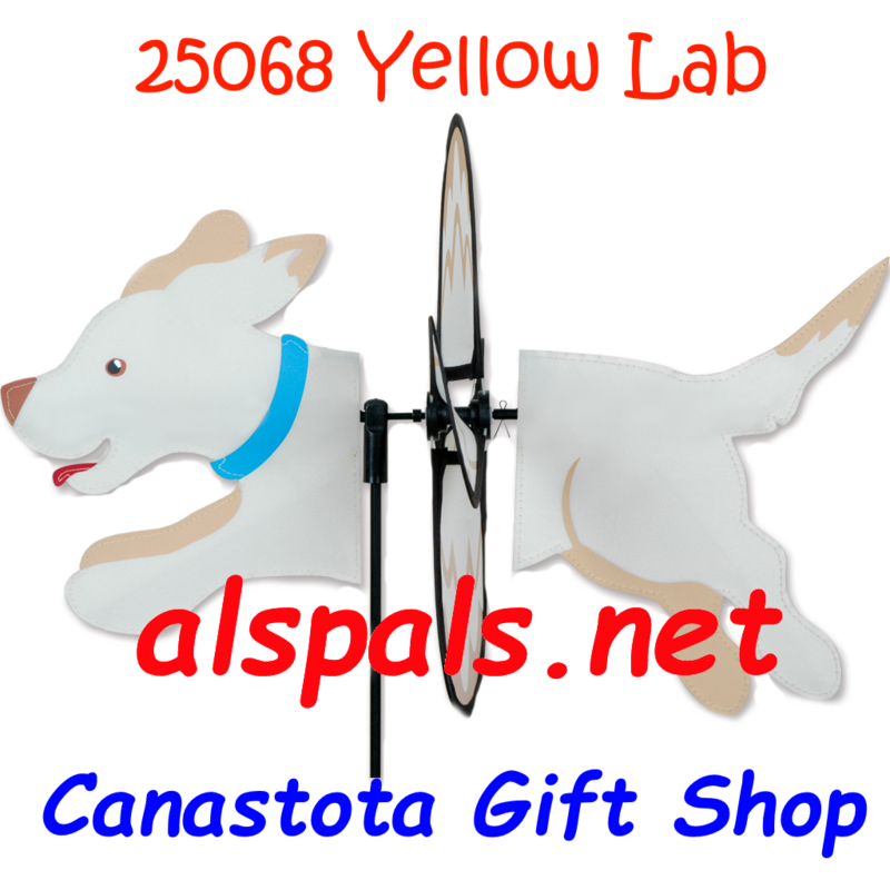 "# 25068 :  Yellow Lab Petite & Whirly Wing Spinner   upc# 63010425068 19"" by 12.75"" ​ ​"