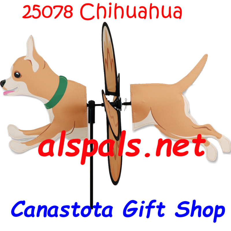"#25078 : Chihuahua   Petite & Whirly Wing Spinner   upc# 630104250782 17.25"" by 10.25"" ​"