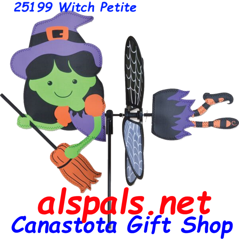 "# 25199:  Witch Petite & Whirly Wing Spinner upc# 630104251994 17"" by 13"" ​ ​"