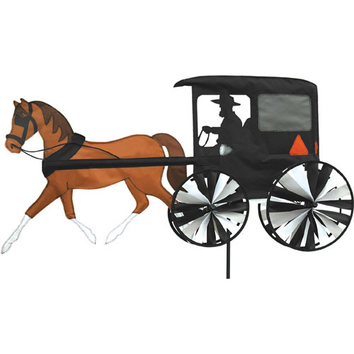 "# 25663 : 36"" Horse & Buggy  Vehicle Spinners  upc #  63010425663"