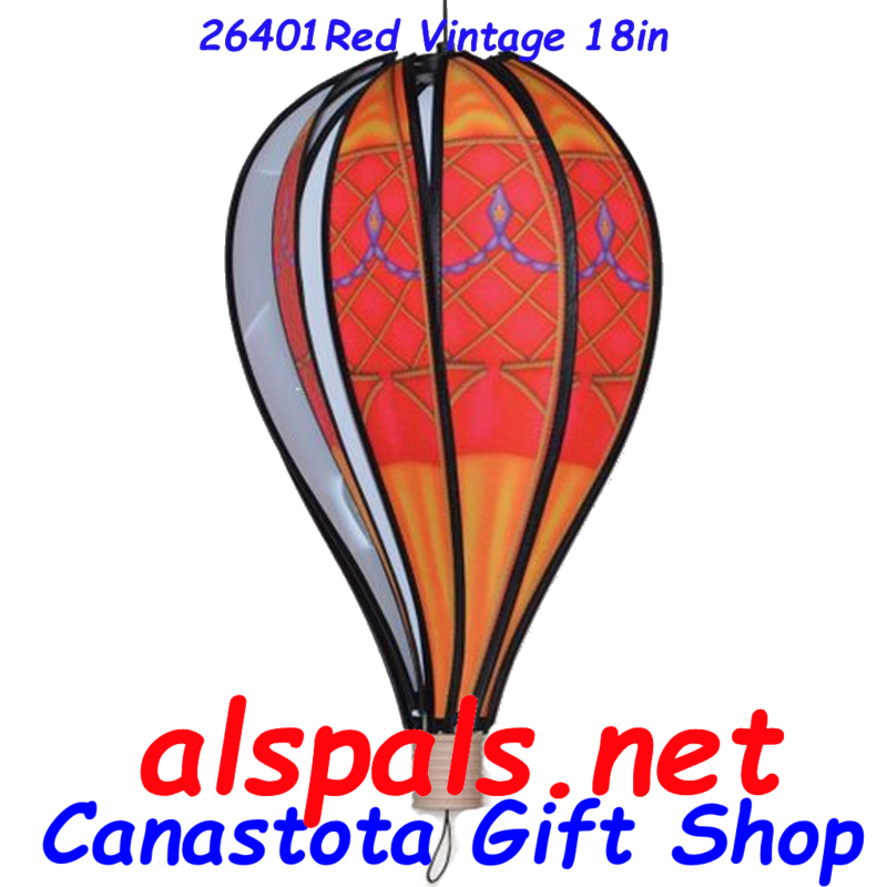 26401 Red Vintage  Hot Air Balloon upc# 630104264017 18 inch diameter