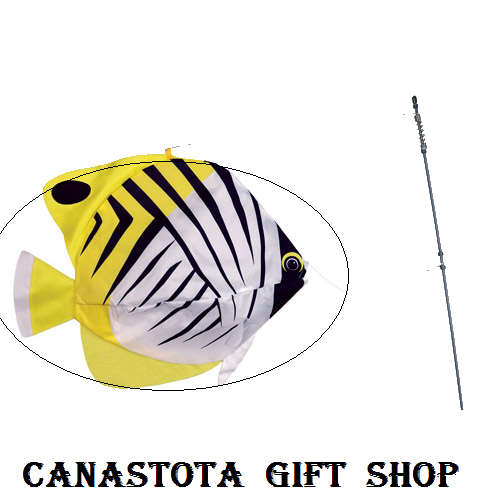 # 26506 : Threadfin Butterfly Fish  Swimming Fish  upc #  63010426506