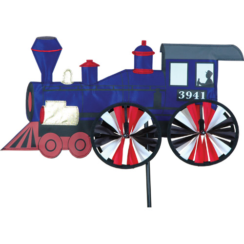 "# 26837 : 21"" Steam Engine  Train Spinners  upc #  63010526837"