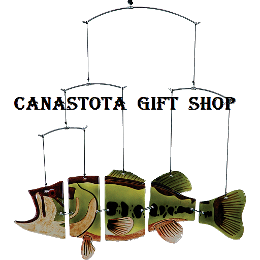 # 81204 : Large Mouth Bass  Suspension Fish Mobiles  upc #  63010481204