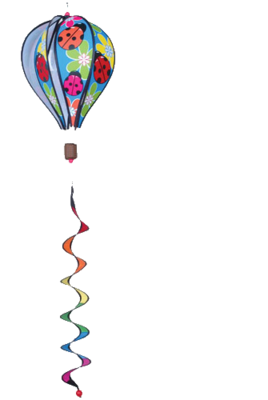 Catalog for hot air balloons 16 wind spinners featured at for Wind garden by premier designs