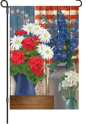 #51335:Patriotic Flowers:Illuminated Flag upc #630104513351