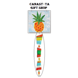 # 81105 : Pineapple  Glass Sun Catchers  upc #  63010481105