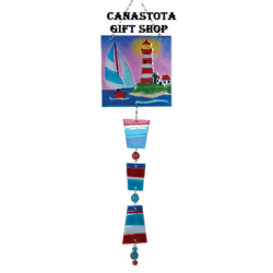 # 81128 : Lighthouse  Glass Sun Catchers  upc #  63010481128